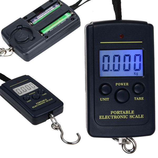 40KG Digital Portable Handheld Weighing Luggage Scales Suitcase Bag LCD