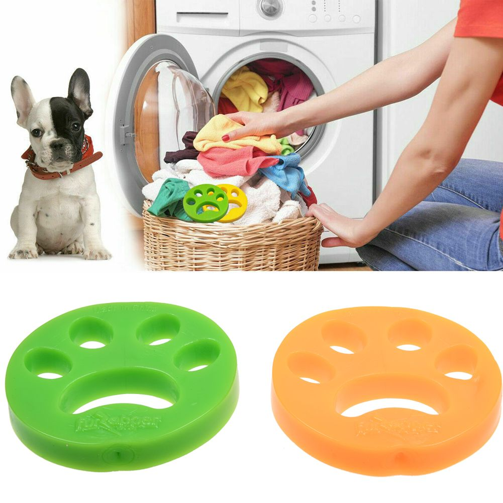 2 Pack Pet Hair Remover - Removes Cat Fur Dog Hair from Laundry