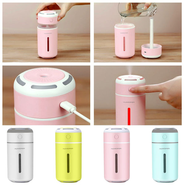 7 Colors LED Ultrasonic Essential Mini Aromatherapy Air Humidifier
