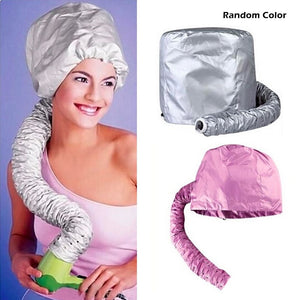 Portable Soft Hair Drying Salon Cap Bonnet Hood Hat Blow Dryer Attachment