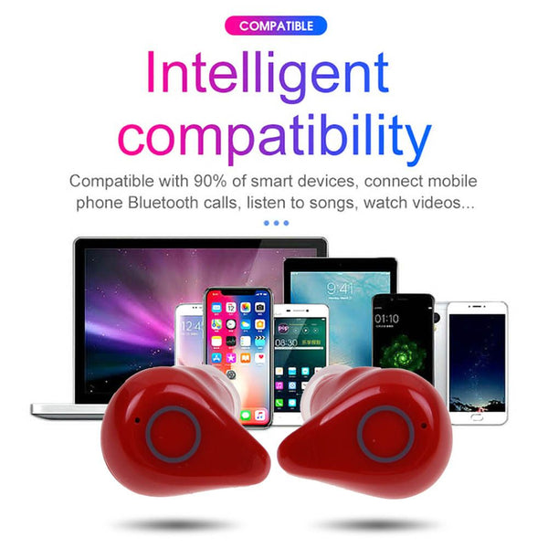 TWS Q5 Wireless Bluetooth5.0 Earphone Stereo Headset Headphone +Charging Box