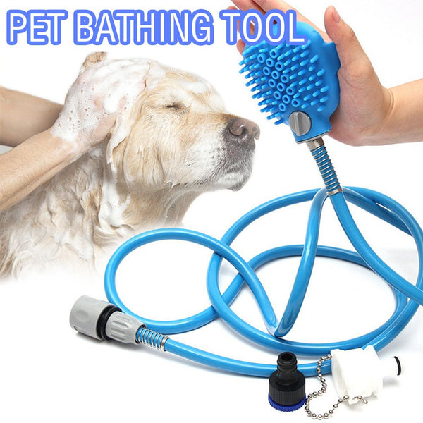 Pet Bath Shower Water Sprayer Head Bathing Tool Hair Washer Cleaning Dog Cat
