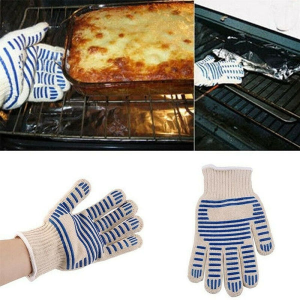 Heat Proof Resistant Cooking Oven Mitt Glove Non-slip Silicone Grip 540°F