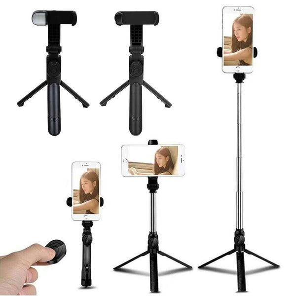 4 in 1 Wireless Bluetooth Selfie Stick Universal Tripod Extendable Remote