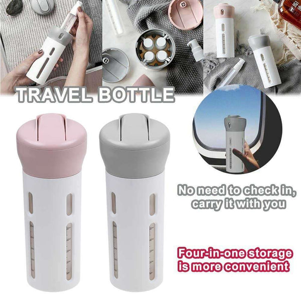 4-in-1 Refillable Bottle Portable Travel Lotion Shampoo Liquid Storage