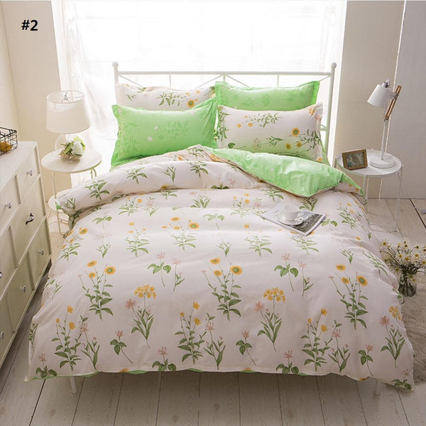 Superfine Fiber Winter Thickening bed linens 3/4pcs duvet cover set