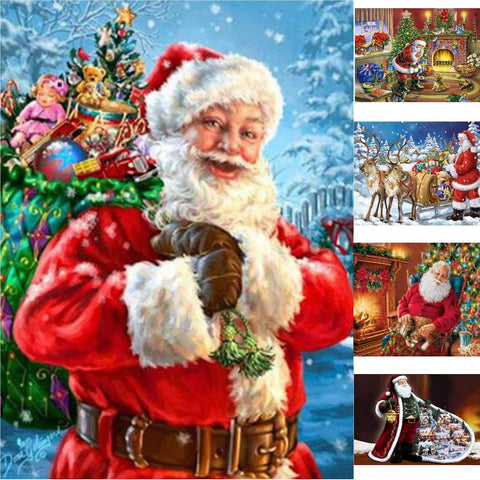 5D DIY Diamond Painting Full Drill Santa Art Cross Stitch Kit Home Christmas