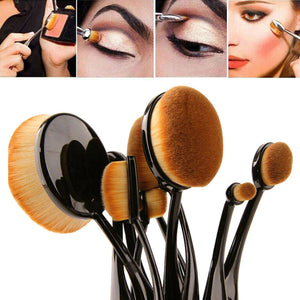 Makeup Face Powder Blusher Toothbrush Concealer Cream Foundation Brush