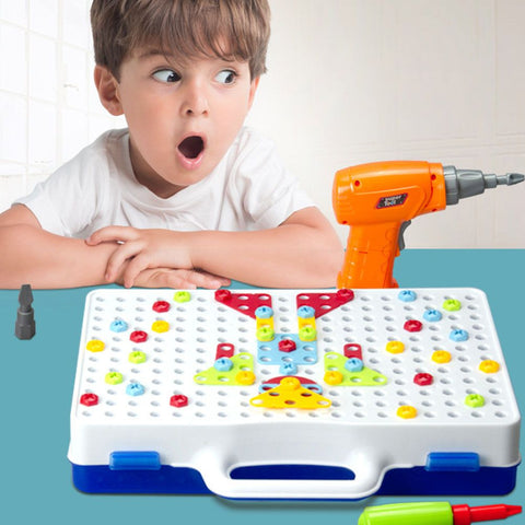 151pcs Electric Drill Puzzle Disassembly Assembled Kids Educational Toy