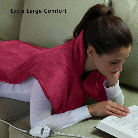 Electric Relief Wrap Neck Shoulder Back Massage Heating Pad Relief Blanket