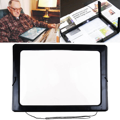 Large Hands Free Magnifying Glass With Light LED Magnifier For Reading Aid