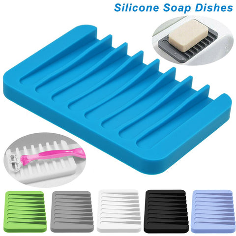 Bathroom Silicone Soap Dish Holder Jewelry Holder Tools Soapbox Plate Tray