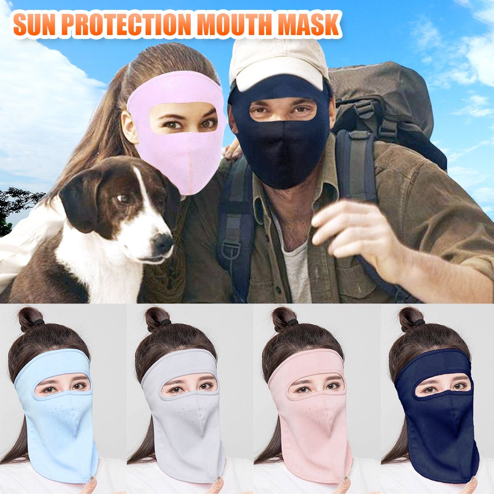 Summer Unisex Outdoor Cycling Windproof UV Protection Full Face Cover