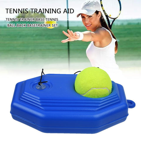 Solo Tennis Trainer Training Practice Rebound Balls Back Base Tool with Ball