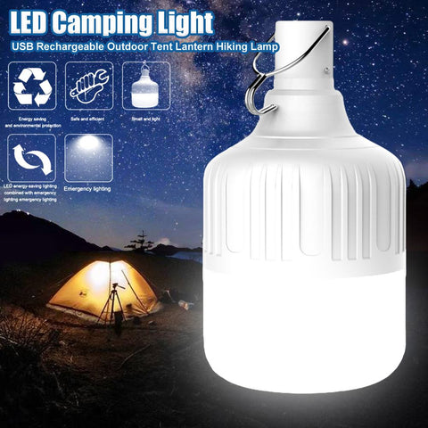 LED Camping Light USB Rechargeable Outdoor Tent Lantern Hiking Lamp