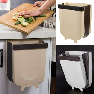 Kitchen Cabinet Door Hanging Trash Can Toilet Folding Wall Mounted Waste Bin