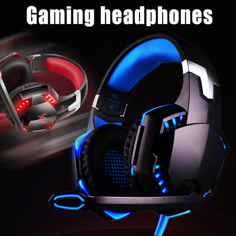 3.5mm Pro Gaming Headset with Mic Volume Control LED Headphones