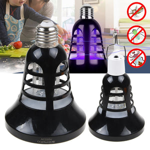 Electric UV Mosquito Killer Lamp Outdoor/Indoor Fly Bug Zapper Blub Socket