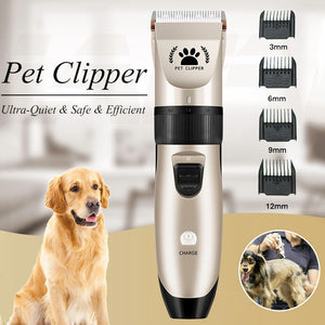 Dogs Electric Clippers Low Noise Professional Pet Hair Grooming Trimmer