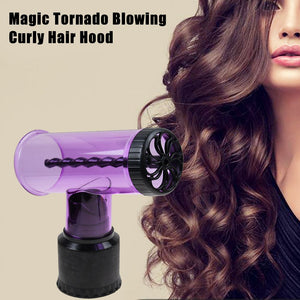 Hair Dryer Curler Roller Diffuser Magic Wind Spin Curl Hair Styling Tool