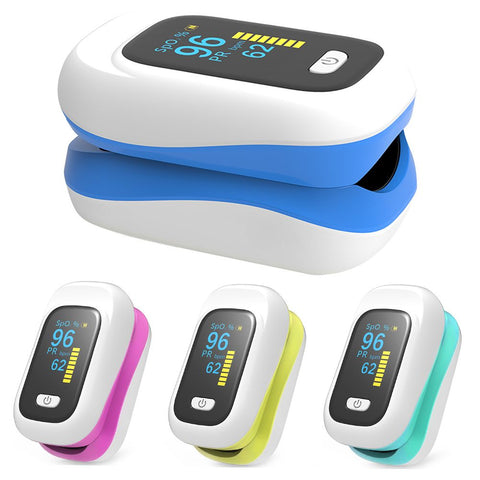 Pulse Oximeter Blood Oxygen Saturation SpO2 Meter Finger Monitor Fingertip
