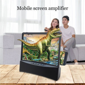 "10"" HD Curved Phone Screen Amplifier With Bluetooth Speaker And Light Shield"