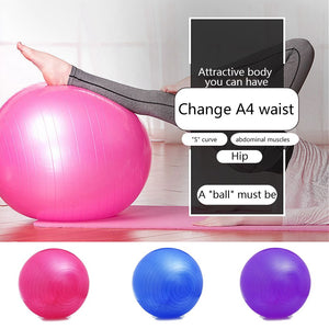 Yoga Pilates Ball 55cm 65cm 75cm Soft Stability Ball For Core Exercise