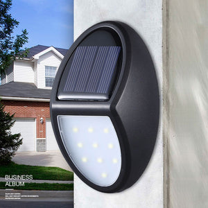 10 LED Solar Garden Powered Sensor Light Outdoor Security Wall Lighting Lamp