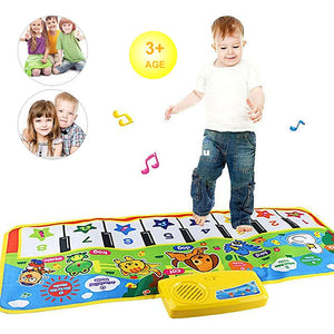 Kids Toy Touch Play Learn Singing Piano Keyboard Music Carpet Mat Blanket