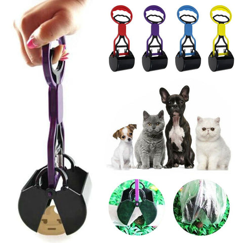 Outdoor Dog Waste Pooper Scooper Easy Pick Up Poop Grabber Picker Shovel