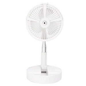 Folding Retractable Fan USB Charging Floor Fan Humidifying Water Spray Fan