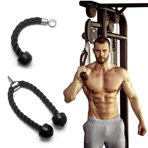 Tricep Rope Single/Double Press Push Down Fitness Gym Bodybuilding  Belt