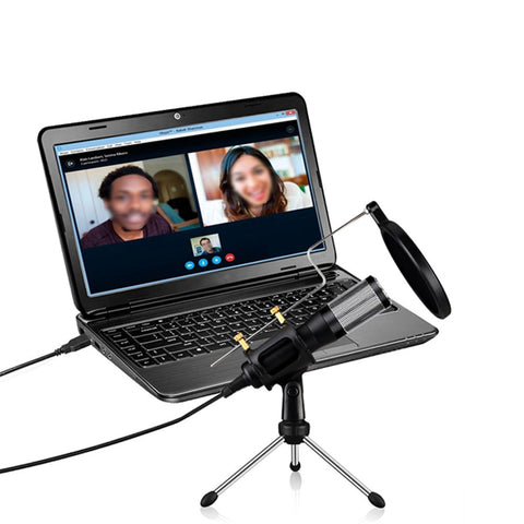 USB Microphone With Tripod Stand for Game Chat Studio Recording Computer