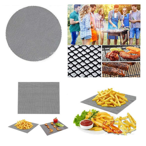 BBQ Mesh Grill Mat Non-Stick Teflon Cooking Grilling Sheet Barbecue Liner