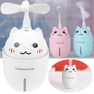 3in1 Mini USB Pet Cat Hydrator Fan Night Light Humidifier