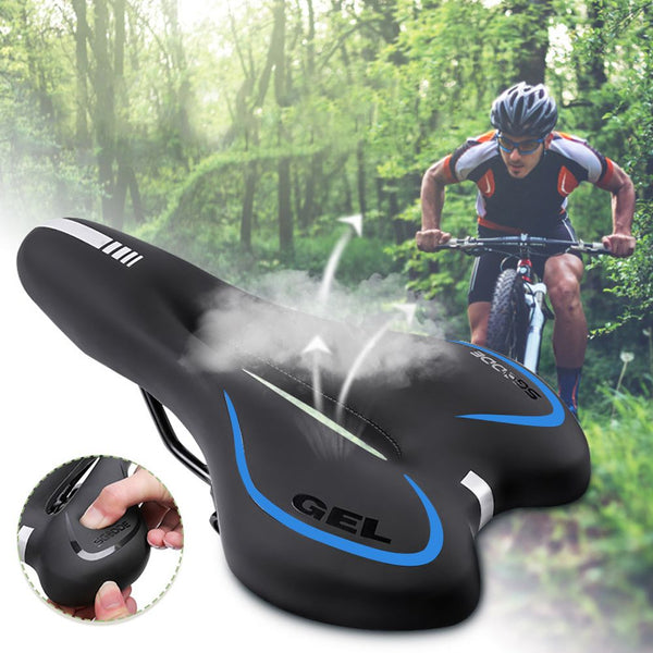 Leather Gel Bike Bicycle Cycling Gel Pad Soft Comfort Seat Saddle