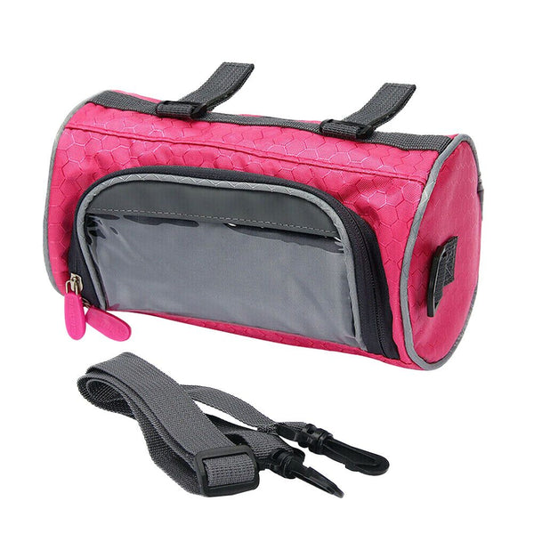 Mountain Bike Touch Screen Front Handlebar Bag Phone Holder Pouch Pannier