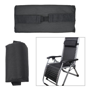 Folding Recliner Chairs Headrest Cushion Pillow for Outdoor Sun Lounger