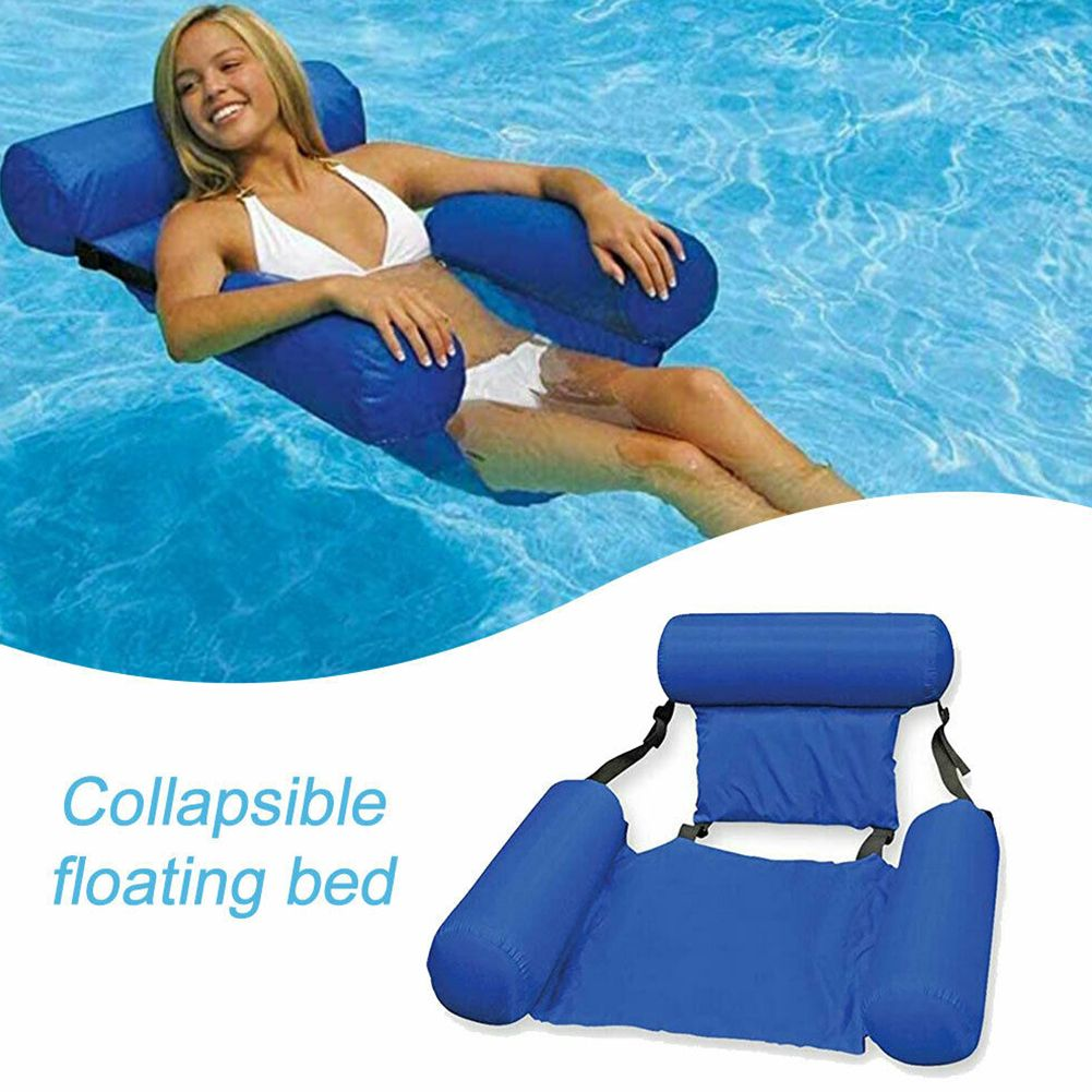Swimming Floating Chair Foldable Pool Seats Inflatable Bed Lounge