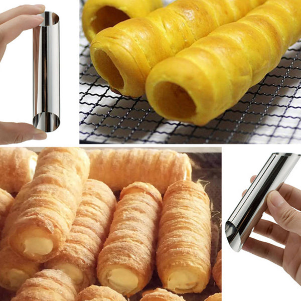 20pcs Reusable Stainless Steel Cannoli Tubes Horn Mould Pastry Baking Mold