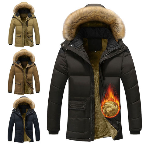 Winter Men 's Jacket - Padded Jacket Fleece Winter Coat
