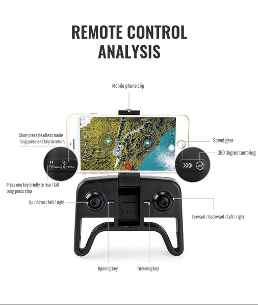 Foldable Profissional Drone with Camera 4K HD RC Quadcopter