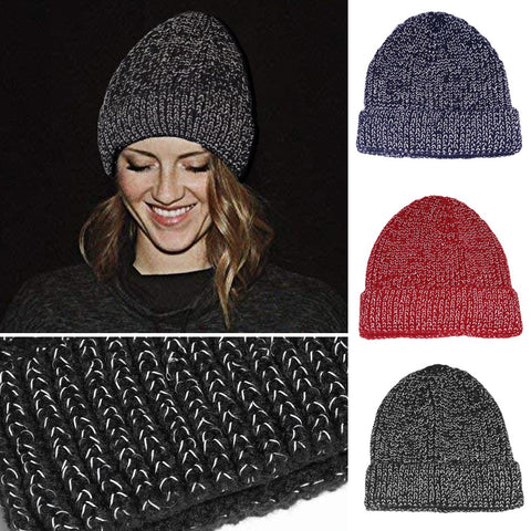 Knitted Reflective Cap Sports Cap