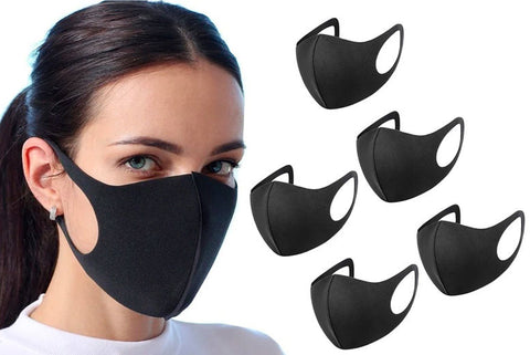 5Pc Adult/Kids Face Covering Breathable Anti-dust Haze Flu Face Mouth Face Covering Respirator