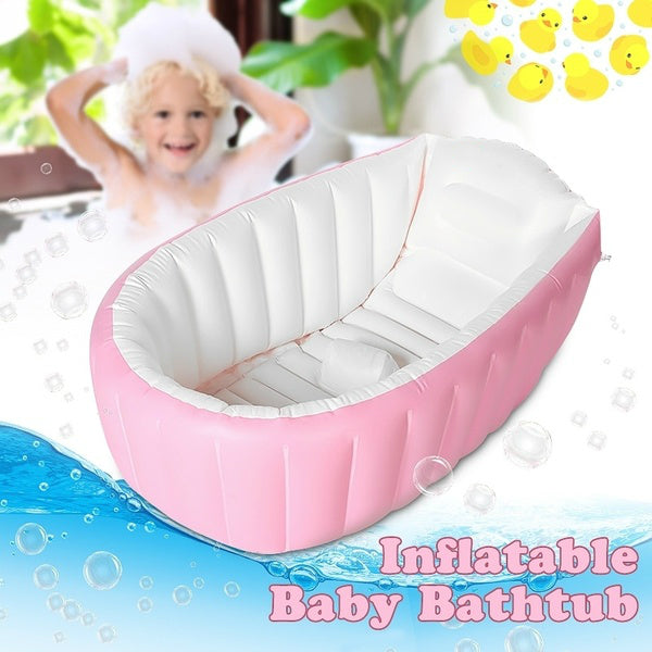 Baby Kids Toddler Inflatable Portable Bathtub Foldable Baby Thick Bath Tub