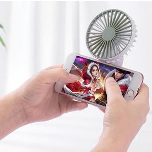 Hand-Held USB Charging Mobile Game Folding Fan Mini Fan