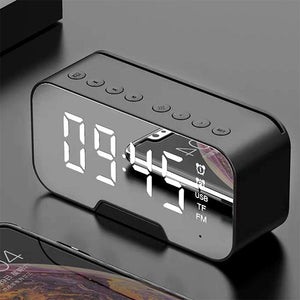 Wireless Bluetooth Speakers Portable Alarm Clock with FM Radio Temperature Display