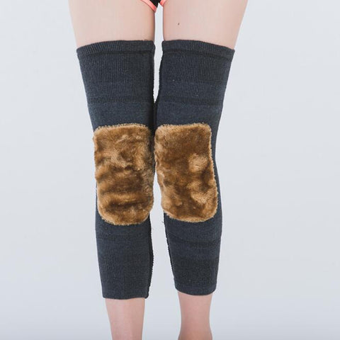 Women Fleece Knee Braces Leg Warmers