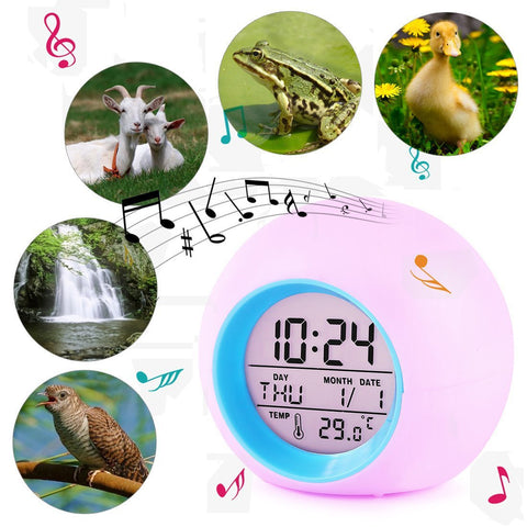 Multifunctional Digital Colour-Changing LED Alarm Clocks