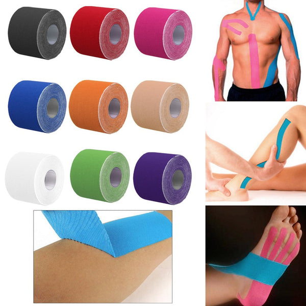5m x 5cm Kinesiology Athletic Muscle Care Elastic Physio Therapeutic Tape 1 Roll